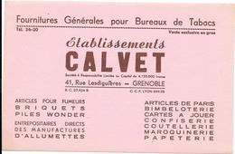 Buvard TABAC - Ets CLAVET Rue Lesdiguieres GRENOBLE - FOURNITURES POUR BUREAUX TABACS -BRIQUETS,ALLUMETTES,pour FUMEURS - Tobacco