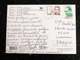 LETTRE TURQUIE TURKIYE AVEC YT 2928 ET 3037 ATATURK MUZAFFER SARISOZEN - MULTIVUES - 1921-... République