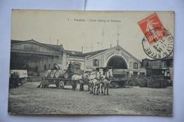 PANTIN-usine Delizy Et Doistau-attelage Avec Tonneaux Sur Charrette - Pantin