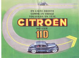 PUB D'époque TRACTION AVANT CITROEN 11 D @ Papier 4 Faces En 2 Volets @ Automobile France - Publicités