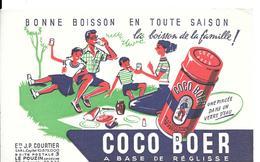 Buvard SUCRERIES : Ets J.P. COURTIER LE POUZIN (Ardèche) COCO BOER  FAMILLE En PIQUE-NIQUE - Cake & Candy