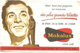 Buvard Ancien  CAFE MOKALUX - LUIS MARIANO - Chanteur De Variétés Et Opérettes - - Coffee & Tea