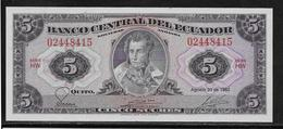 Equateur - 5 Sucres - Pick N°108b - NEUF - Equateur