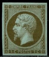 Lot N°136c France N°11c Mordoré Neuf ** LUXE - 1853-1860 Napoléon III