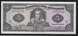 Equateur - 5 Sucres - Pick N°120A - NEUF - Equateur