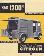 PUB D'époque Traction Avant CITROEN Camionnette TUBE HY 1200 Kg @ Papier 4 Faces En 2 Volets @ Automobile France - Publicités