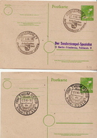 Germany 2 Cancelled Postal Stationery Cards ( Ganzsache) - American,British And Russian Zone