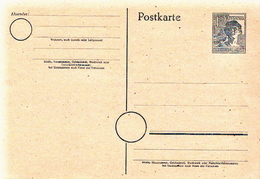 Germany Mint Postal Stationery Card ( Ganzsache) - American,British And Russian Zone