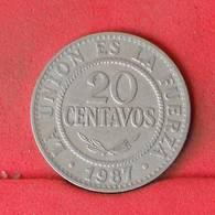 BOLIVIA 20 CENTAVOS 1987 -    KM# 203 - (Nº23032) - Bolivia