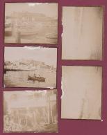 250518A - 8 PHOTOS 1905 - GRECE CORFOU Marché Aux Fruits Port Citadelle Café Route De Santé Deca Vendangeur - Grèce