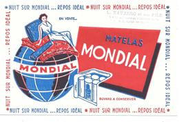 Buvard Ancien  NAVARRO L. à ALGER - MATELAS MONDIAL - Globe Terrestre, Mappemonde - Buvards, Protège-cahiers Illustrés