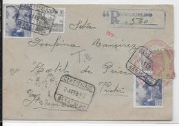 ESPAGNE - 1942 - ENVELOPPE RECOMMANDEE De BARACALDO Avec CENSURE De BILBAO => VICHY - 1931-50 Cartas