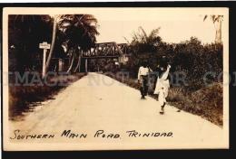 TRINIDAD BWI RAILWAY TRAIN STEEL BRIDGE Vintage Original Ca1900 POSTCARD CPA AK (W4_4304) - Puentes