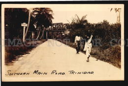 TRINIDAD BWI RAILWAY TRAIN STEEL BRIDGE Vintage Original Ca1900 POSTCARD CPA AK (W4_4304) - Brücken