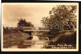 TRINIDAD BWI GARONI RAILWAY TRAIN STEEL BRIDGE Vintage Original Ca1900 POSTCARD CPA AK (W4_4305) - Puentes