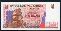 ZIMBABWE P5b 5 DOLLARS 1997 Prefix BW   UNC. - Zimbabwe