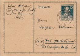 Germany Used Postal Stationery Card ( Ganzsache) - Amerikaanse, Britse-en Russische Zone