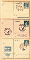 Germany 3 Cancelled Postal Stationery Cards ( Ganzsache) - American,British And Russian Zone
