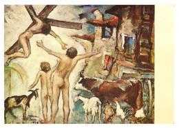 Gesù Crocefisso, Uomini Nudi E Animali. Da Un Quadro Di Giacomo Vittone - 1979. - Illustratori & Fotografie
