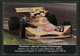 """AK Warsteiner """"Special"""" Formel II-Rennwagen Beim Autorennen - Sport Automobile"""