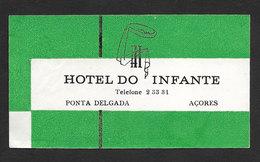 Portugal Etiquette Valise Hotel Do Infante Ponta Delgada Açores Azores Luggage Label - Hotel Labels