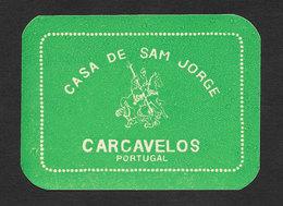 Portugal Etiquette Valise Hotel Casa De Sam Jorge Carcavelos Saint Georges St. George Luggage Label - Hotel Labels