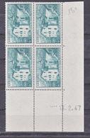 Andorre 108A  Bloc De 4 Coin Daté  13 2 1947 Neuve * * TB MNH Cote 57.5 - Französisch Andorra