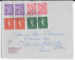 GUERNSEY - 1965 - ENVELOPPE De ST PETER PORT => ST CYR AU MONT D'OR - Guernsey