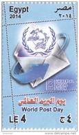 Stamps EGYPT 2014 WORLD POST DAY UPU UNIVERSAL POSTAL UNION  MNH */* - Egypt