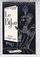 LE BIJOU, DINNER. DRAWING HILARY KNIGHT. USA.-BLEUP - Hotel's & Restaurants