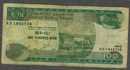 ETHIOPIA  P50a 100 BIRR 1989 / 1997   FINE Only 1 P.h. ! - Ethiopie