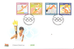 Ireland 2000 Olympic Games Sydney Mi 1237-1240, FDC - 1949-... Repubblica D'Irlanda