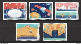 China 2017 Innovation In Science & Technology Radio Telescope Satellite Space Computer Sciences 5v Stamps MNH 2017-23 - Computers