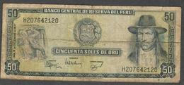 PERU P113  50 SOLESDE ORO 1977  FINE - Peru