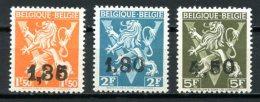 BE   724DD - 724EE - 724FF    XX   ---   Lion Héraldique   ---   Impeccables  --  COB : 44,50 Euros - 1946 -10%