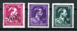 BE   724N - 724O - 724P    XX   ---   Léopold III Type  Col Ouvert   ---   Impeccables  --  COB : 8 Euros - 1946 -10%