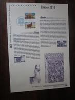 Premier Jour -collection Historique Du Timbre-poste Français - Unesco 2010 - Documents De La Poste