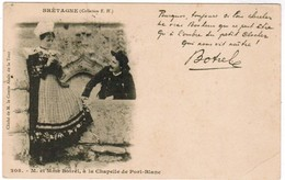 CPA Brétagne, M Et Mme Botrel A La Chapelle De  Port Blanc (pk44695) - Autres Communes