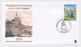 Monaco 2017 First Day Cover - Monaco - Vatican (Native) FDC - Monaco