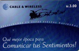 TARJETA TELEFONICA DE PANAMA (CHIP). COMUNICAR TUS SENTIMIENTOS (033) REGULAR, RAYADA - Panama