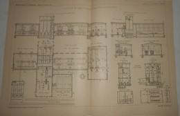 Plan De La Fabrique De Ciment Portland De Rudelsbourg En Saxe. 1903. - Public Works