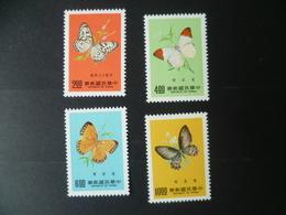 TIMBRE CHINE FORMOSE SERIE COMPLETE N° 1129 /1132   NEUF **  Papillon  Butterfly - 1945-... République De Chine