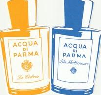 ACQUA DI PARMA *Blu Méditerranéo* Et *Le Colonie*  2 Répliques - Cartes Parfumées