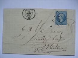 FRANCE - 1862 Entire - Luxeuil To Melisey - 1853-1860 Napoleon III