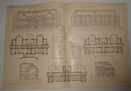 Plan Du Pavillon De Chirurgie à L'Asile Clinique Sainte-Anne, Rue D'Alésia à Paris. 1903. - Public Works