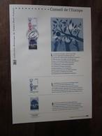 Premier Jour -collection Historique Du Timbre-poste Français - Conseil De L'europe  (2010) - Documents De La Poste