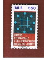 ITALIA REPUBBLICA  - SASS. 1682  -      1984  TELECOMUNICAZIONI     -      USATO - 6. 1946-.. República