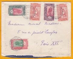 1935 - Enveloppe De Djibouti, C F Somalis Vers Paris, France - Affrt  55 C - Six Timbres - Cad Arrivée - Côte Française Des Somalis (1894-1967)