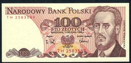 POLAND P143e 100 ZLOTYCH 1988  UNC. - Polen