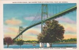 New York Thousand Islands International Bridge Crossing St Lawre